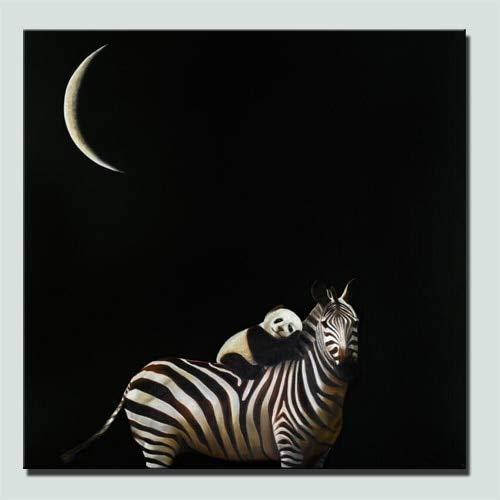 Geiqianjiumai Panda drukt zebra foto op de achterkant van de poster muur schilderij kind babykamer muur decoratie cadeau frameloze schilderij