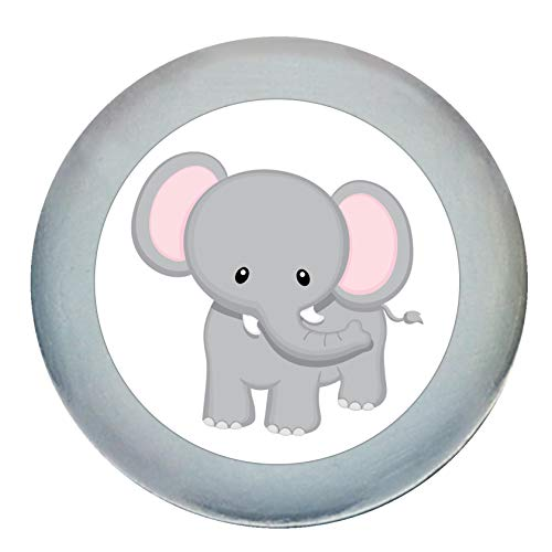 """Möbelgriff""""Elefant"""" grau hellgrau Holz Buche Kinder Kinderzimmer 1 Stück wilde Tiere Zootiere Dschungeltiere Traum Kind"""