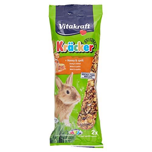 Vitakraft - Barritas Kräcker para Conejos, Sabor Miel y Sésamo - 2 uds x 112 g 🔥