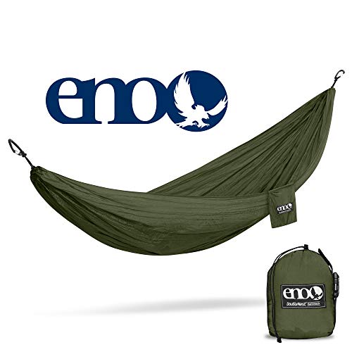 ENO - Eagles Nest Outfitters DoubleNest Lightweight Camping Hammock, 1 to 2 Person, Olive/Olive