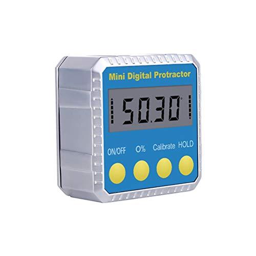 RongWang RZ Transportador de ángulo ángulo Oblicuo Universal de 360 Grados Mini inclinómetro del prolongador probador electrónico Digital Herramienta de medición MT2011