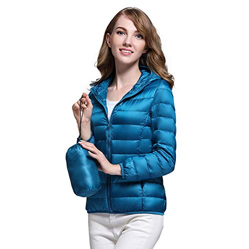 Verpakbare Down Jacket Vrouwen Hooded Ultra Lichtgewicht Korte Winter Puffer Jas met Draagtas M-4XL