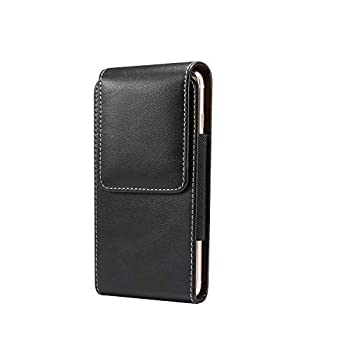 Galaxy Note 9 Holster Galaxy Note 8 Belt Holster Case with Belt Clip Leather Cellphone Pouch w for Samsung Galaxy A9 / A70 / A9Star / A8Star C9pro  Fits Phone with Case On  6.3 in  Black Vertical