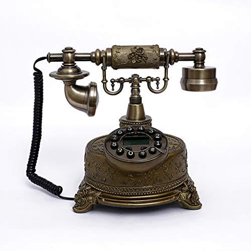 Teléfono vintage retro de alta gama clásico - Placa de dial rotativa Teléfono fijo antiguo - con pantalla LCD - Decoración clásica Adecuado para hogar, oficina, casa de lujo, hotel estrella, galería d