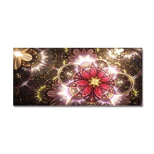 YDyun Alfombra Salon Grandes - para Comedor, Dormitorio, Pasillo y Habitación Estera de Tira Larga con patrón Creativo en Forma de Flor
