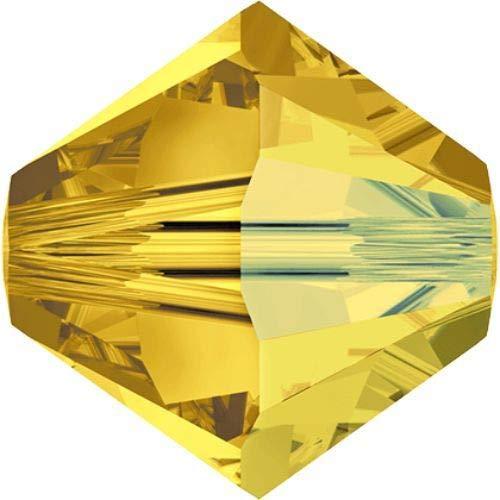 48pcs Light Topaz Ab 226ab Xilion Bicono Cristalli di Vetro Giallo 5328 Perlina Sfaccettata Strass 3mm