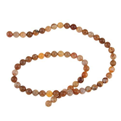 Hellery Hebra de Cuentas Sueltas de Piedras Preciosas DIY de Forma Redonda Natural de 6 Mm para Pulsera de Yoga