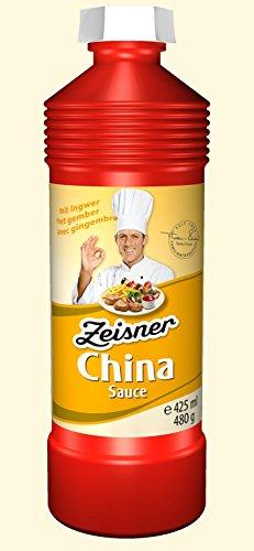 Zeisner China-Sauce auf Ingwerbasis, ohne künstliche Aromastoffe, 425 ml