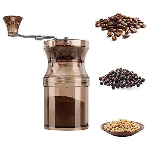 Ręczny młynek do kawy z regulowanym ceramicznym pokrętłem, różne ustawienia mielenia do ekspresu do kawy Aeropress, Drip Coffee, espresso, French Press, turecki zaparzacz, przenośny młynek do kawy do domu, na kemping