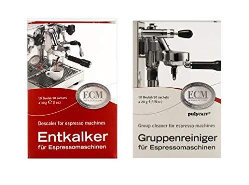ECM Entkalker & Gruppenreiniger für Espressomaschinen je 10 Tüten Sparset Bundle