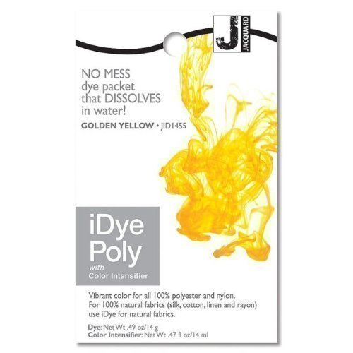 Jacquard iDye Poly - Fabric Dye for Polyester and Nylon (Various Colours Available) (Golden Yellow) by Jacquard