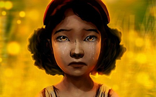 Tomorrow sunny 24X36 INCH/Game Walking Dead Game Clementine Clementine tears