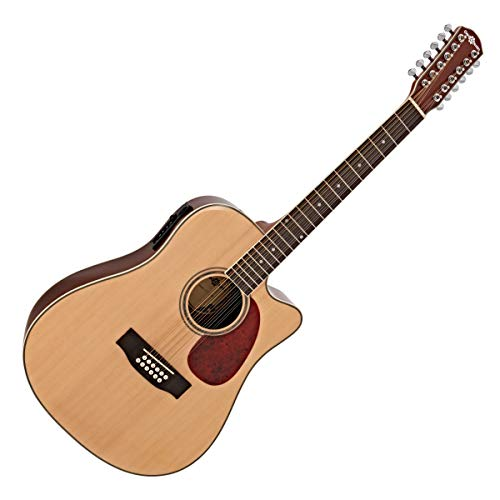 Dreadnought 12 String Electro Acoustic Guitar by Gear4mus