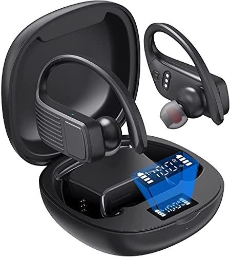 Bluetooth Kopfhörer In Ear Haowolf, HiFi Stereo Kopfhörer Bloothooth Kabellos 5.1 Kopfhörer Mit LED Anzeige der Batterie, 47 Stunden Akkulaufzeit Und Wasserdicht IPX7 Für Sport, Arbeit und Reise
