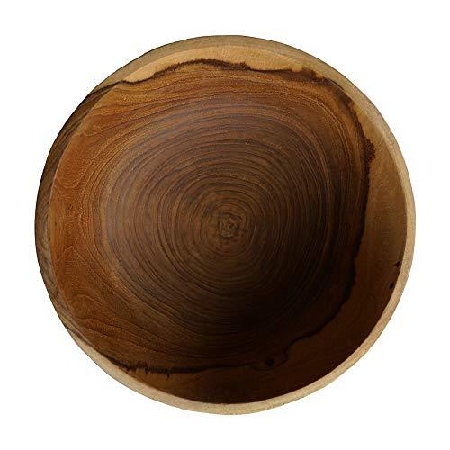 onvacay Teak-Holz Schale Bowl Vegan Salat Smoothie EIS Frühstück Porridge 15cm inkl. Löffel im Set Zertifiziert handgefertigt - 2