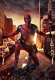 sanzhisongshu Marvel Superhéroe Los Vengadores Deadpool Película Pintura Decoración del Hogar Arte De La Pared del Hogar Calidad De Guardería Póster Lienzo Pintura N872 50X60Cm