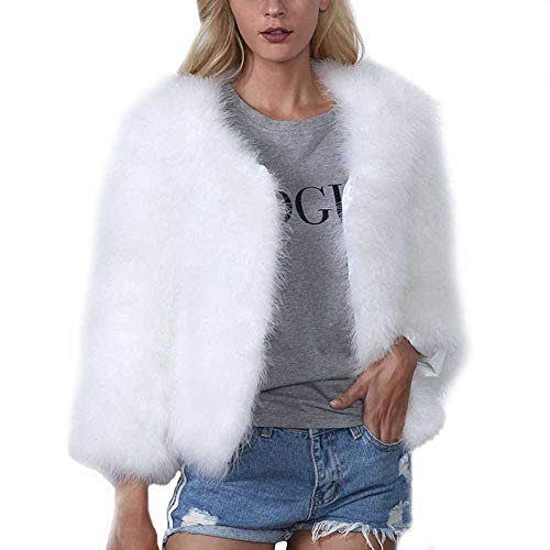 Vrouwen Warm Faux Bont Fluffy Zachte Korte Jas, Meisjes Kunstmatige Bont Winter Jas Cape Poncho Dikke Sweatshirt Pullover Jumpers Parka Bovenkleding Sweater