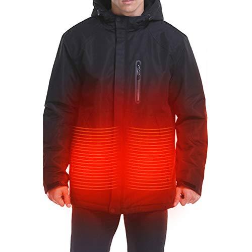 Q&M Elektrische warmer capuchontrui mantel verwarmd jas bovenkleding thermische kleding voor sport wandelen winter sneeuw skivest