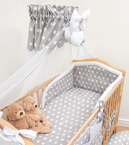 Auvent en mousseline de soie/Tissu en tulle pour berceau/lit bébé + Support pince en métal