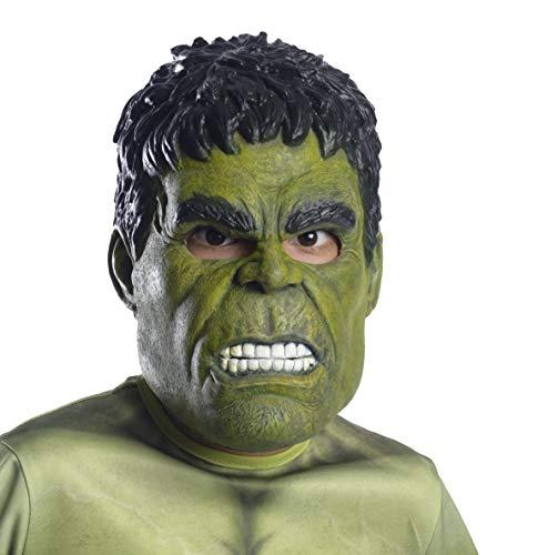 Marvel Avengers: Endgame Rubie'S Máscara de Vinilo para Adulto Hulk 3/4, como se Muestra, Talla única