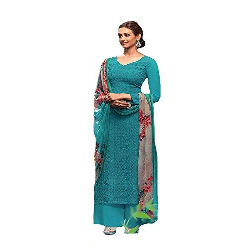 Indian Muslim Women Dress Designer Anarkali Straight Salwar Kameez Suit Party Wear 8739