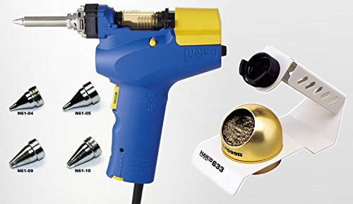 Hakko FR-301 - Desoldering Tool with 633-01 Stand and Four Extra Nozzles (N61-04, 05, 09 and 10)