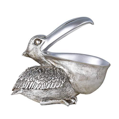 GWM Boîte à Bijoux/Support de boîte à clés, boîte de Finition de Bureau pour entrée de Meuble à Chaussures, boîte de Rangement Multi-Usage de Forme rétro pour Oiseaux (Couleur : Silver)