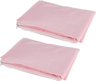 IPOTCH 50x70cm Anti Allergy Anti Dust Mite Proof Pillow Cover Protectors Pink 2Pcs