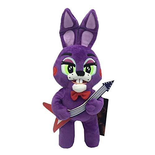 Ukgjhejjh Five Nights at Freddy's Spielzeug Figuren Persönlichkeit Mode niedlichen Anime Fuzzy Toy Bear Kinder Puppe Geburtstagsgeschenk (Color : Purple, Size : 25cm)