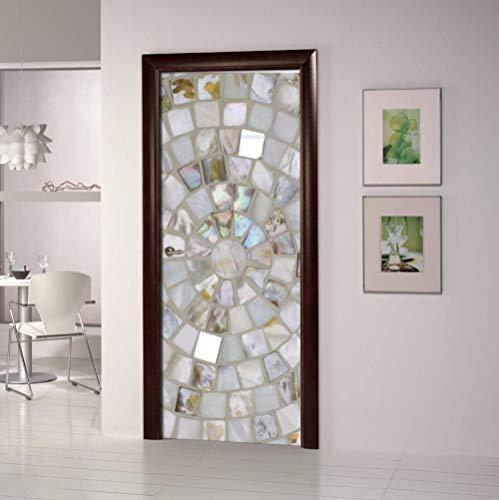 LOVEJJ Pegatinas puerta 3D Cristal Puerta madera DIY