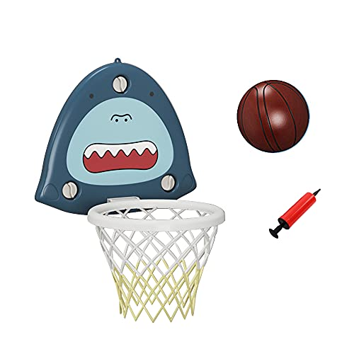 XingHongTai Mini Basketball Hoop,Bath Toys Wall Mounted Basketball Hoop Balls Set for Toddler Kids with Suction Cup Pump,Indoor Outdoor Shooting Games Joy Gifts for Children(Standard Blue)