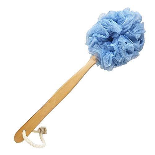 RASDDER Bath Brush, Back Brush Long Handle for Shower, Shower Brush with Loofah Mesh for Skin Exfoliating, Shower Sponge for Men and Women