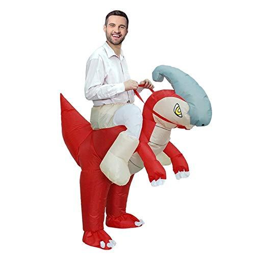 MOSHANG Dinosaurio inflable de disfraces de Halloween, adecuados for alto y 5.1 pies, 6,4 pies, tela de poliéster resistente al agua, muñecas de la historieta espectáculo de caballos animales, ropa Re