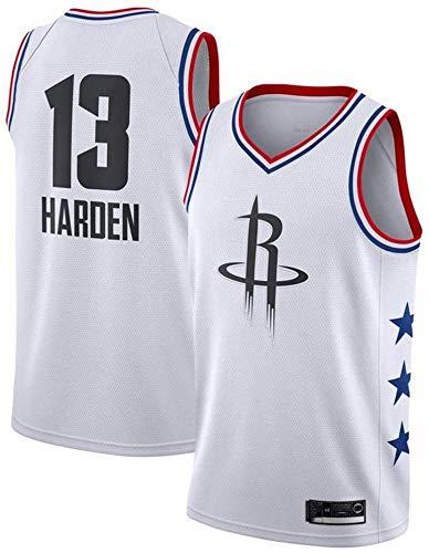 Zxwzzz NBA Jersey Houston Rockets No.13 Harden Maglie Traspirante Ricamati Pallacanestro Swingman Jersey (Color : White C, Size : Medium)
