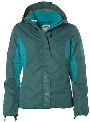 KangaROOS Damen Funktionsjacke 3in1 Outdoor Jacke Fleecejacke Grün 36