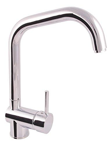 \'aquaSu® 78022 3 Küchenarmatur Larina für Vorfenstermontage   Spültischarmatur Umklappbar   Unterfenstermontage   Einhandmischer Spüle   Wasserhahn   Chrom