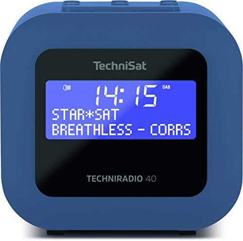 TechniSat TECHNIRADIO 40 - DAB+ Radiowecker (DAB, UKW, Wecker mit zwei einstellbaren Weckzeiten, Sleeptimer, Snooze-Funktion, dimmbares LCD Display, USB Ladefunktion) petrolblau