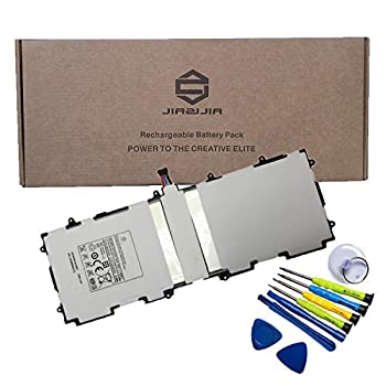 JIAZIJIA SP3676B1A 1S2P  Tablet Battery Replacement for Samsung Galaxy Tab 2 10.1 inch GT-P5100 GT-P5110 GT-P5113 GT-N8000 GT-N8010 GT-N8013 GT-P7510 GT-P7511 Series with Tools Kit 3.7V 25.9Wh 7000mAh