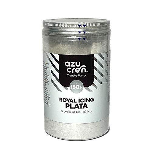 Glasa Real para Repostería - Silver Royal Icing - Preparado para Decorar Galletas y Cupcakes - 150 G (Plata)
