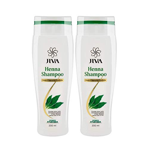 Jiva Henna Shampoo - 200 ml (Pack of 2) | Restores Natural Colour of Hair with Heena Shampoo | Prevents Greying of Hairs