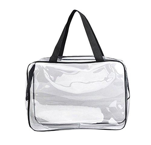 1 neceser portátil para cosméticos, bolsa de maquillaje grande para viajes, impermeable,...