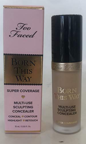 Too Faced Born This Way - Corrector de escultura multiusos (15 ml), color beige