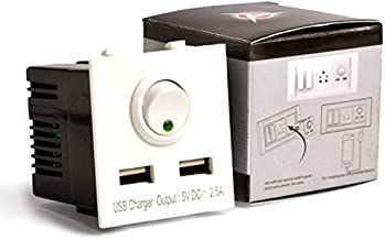 Accucharger IIP-EMC-102 Dual USB Modular Charger (Socket Charger for Roma Fitting)