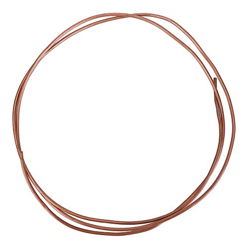Weikeya, tubo di rame esterno in rame, resistente alla corrosione, tubo di rame resistente all'ossidazione, rame realizzato per condizionatore d'aria frigorifero Od 4 mm / Id 2 mm