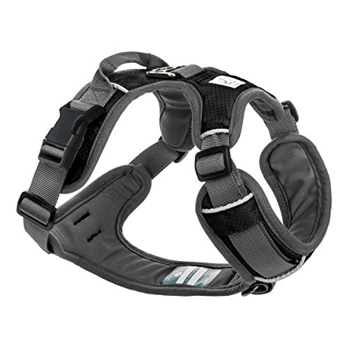 Embark Adventure Dog Harness, Easy On and Off with Front and Back Leash Attachment Points & Control Handle - No Pull Training, Size Adjustable and No Choke (Small - Black)