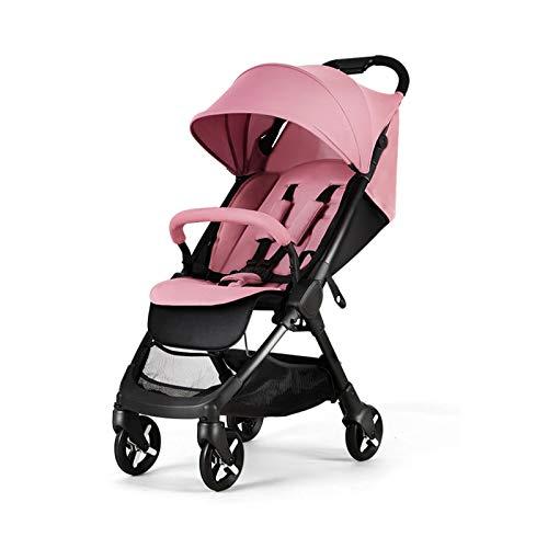 Yuansr Carruaje Para Bebés, Para Bebés Recién Nacidos Sentarse Y Dormir Cochecito-todo Terreno Cochecito Compacto Convertible, Cochecitos De Bebé De Alto Paisaje(Color:rojo)