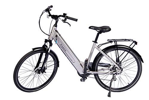 Aurotek Bicicleta Eléctrica de Paseo Silver, Adultos Unisex, Gris, 26