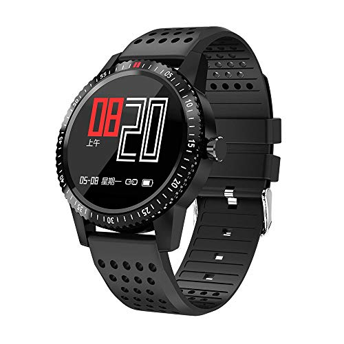 YUYLE Smartwatches smartwatches heren dames waterdicht IP67 GPS smartwatch bloeddrukmeter intelligent horloge verbonden fitness voor Android iOS, Blanco Y Gris