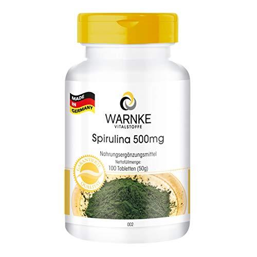 Spirulina 500 mg compresse - Spirulina Platensis pura in polvere - 100 compresse