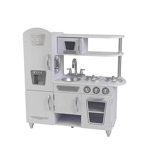 KidKraft Cocina de Juguete Vintage de Madera, Color Blanco, 33'L x 11.7'W x 35.7'H